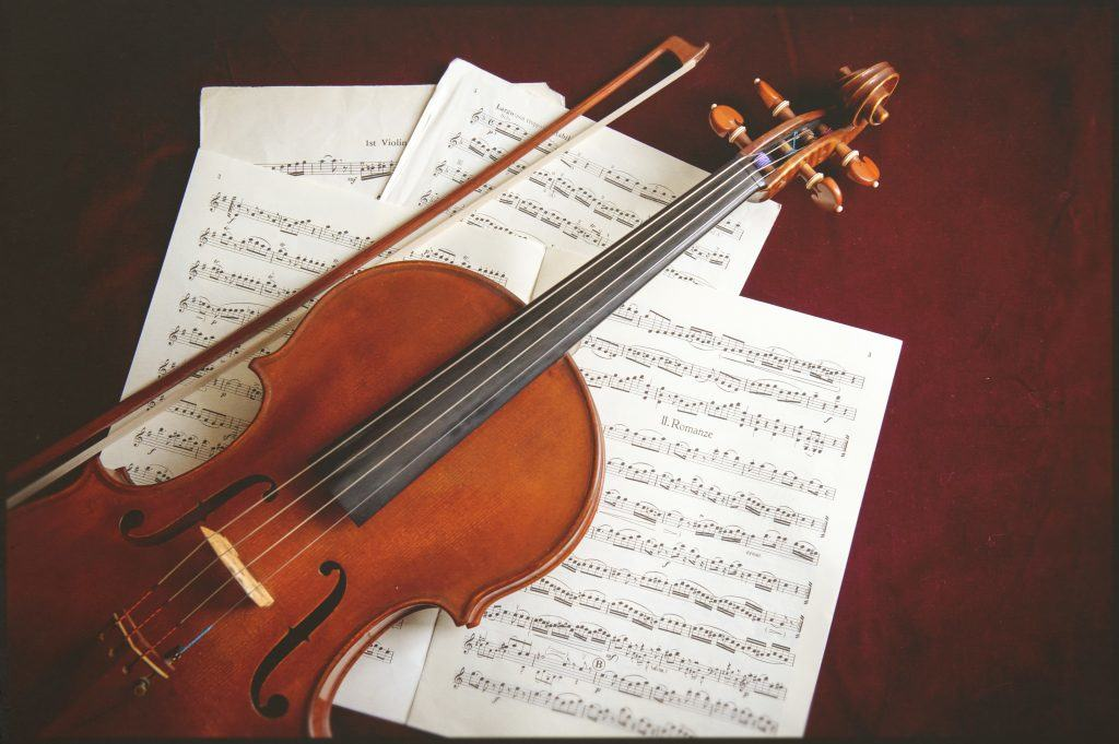 viola with music
